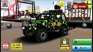 Off Road Monster Truck Driving SUV Car Driving - 4x4 Stunt Car Games - Android gameplay Video #2