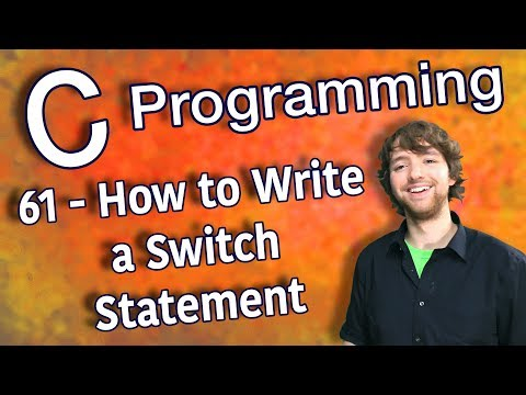 C Programming Tutorial 61 - How to Write a Switch Statement thumbnail