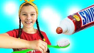 Cepillarse los dientes - Canción Infantil | Canciones Infantiles con Emi y Niki