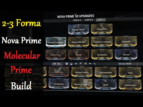 Warframe Builds Nova Prime Molecular Prime Builds 2 3 Forma Youtube In this guide, got you guys just 1 powerful build here that makes nova a bit tanky, and maximize her molecular prime potential. warframe builds nova prime molecular prime builds 2 3 forma
