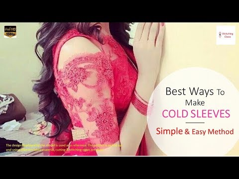 Cold sleeves cutting and stitching, How To Make Cold Shoulder Sleeves in Easy Method, cold shoulder