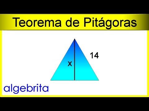 Hallar La Altura De Un Triángulo Equilátero Si Conocemos Un Lado Teorema De Pitágoras 356 Youtube