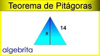 356 Teorema de Pitágoras Hallar la altura de un triángulo equilátero si conocemos un lado