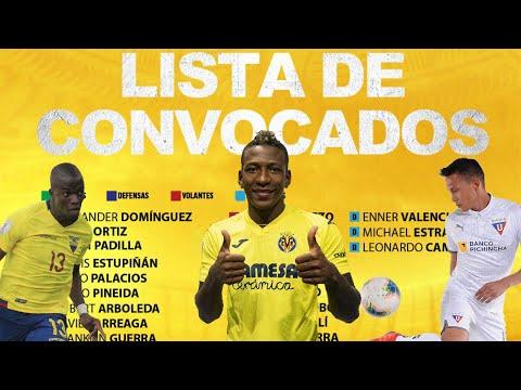 (OFICIAL) LOS CONVOCADOS DE ECUADOR POR GUSTAVO ALFARO PARA