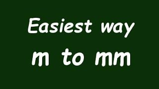 ✅ Mm (m) - Örnek ve Formül Milimeter Metre dönüştürmek