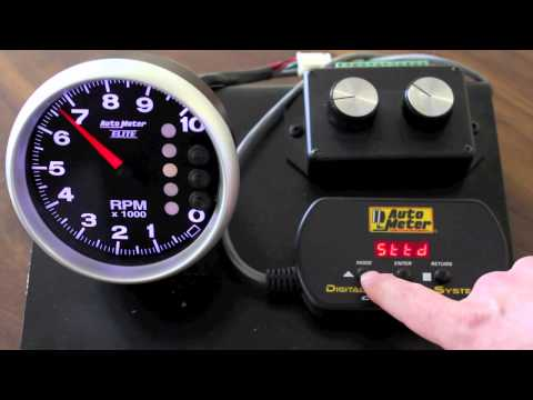 AutoMeter Elite NASCAR Pit Road Speed Tach instrucional Video