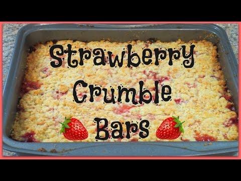 Strawberry Crumb Bars - Quick & Easy Dessert Recipe!