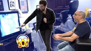 BASHING DAD's TV PRANK! - DAD FREAKOUT! thumbnail