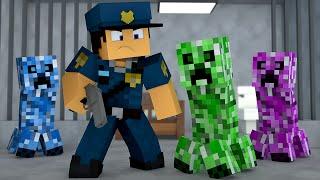 Minecraft : O CREEPER FOI PRESO !! - ( Polícia e Ladrão)