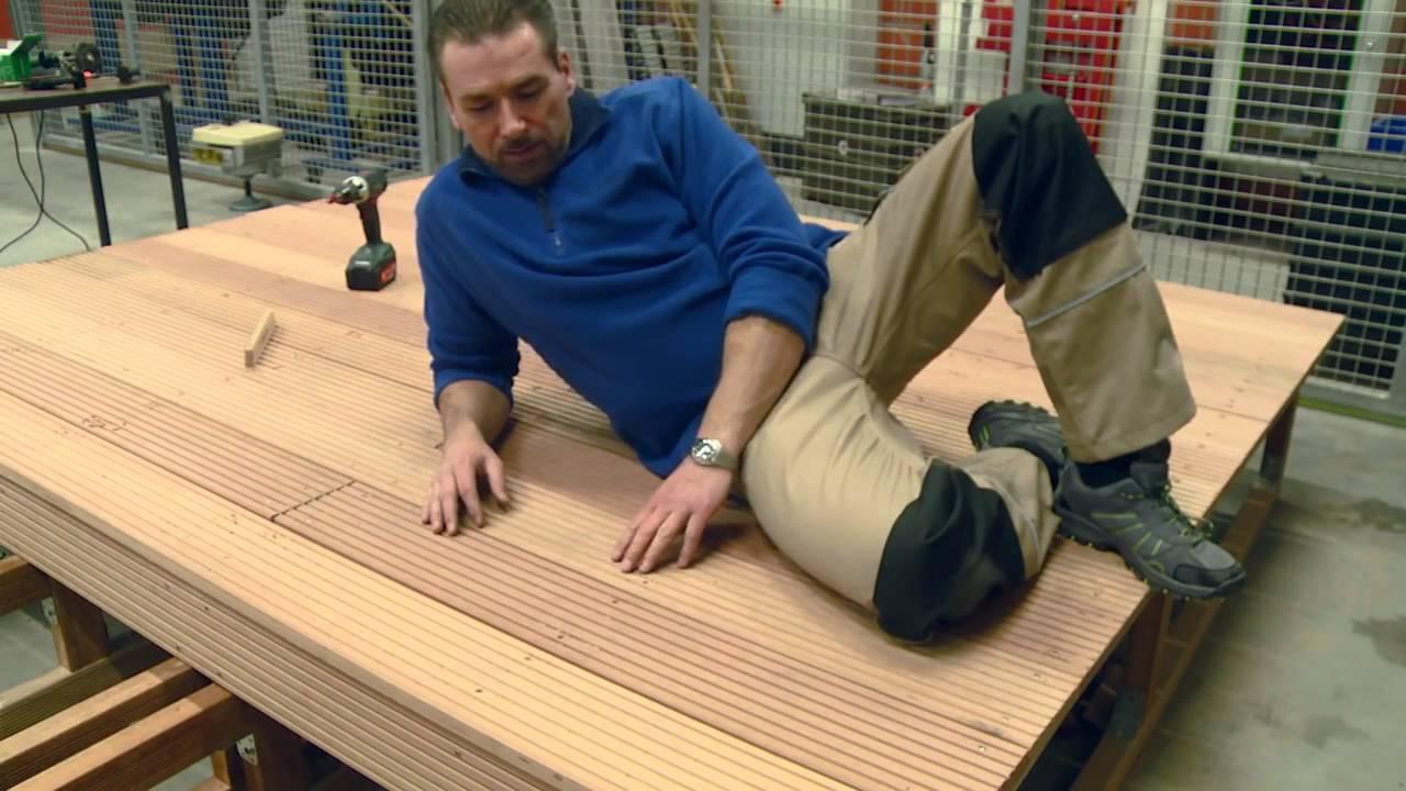 Lieblings Holz vom Fach Verlegung von Terrassendielen leicht gemacht - YouTube #QZ_67