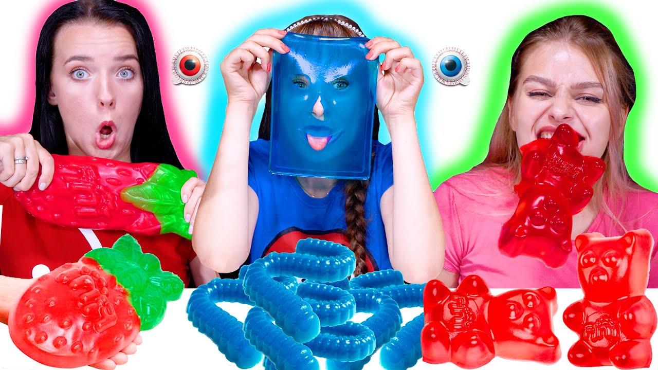 ASMR Gummy Food Party (Most Popular Food Challenge) By LiLiBu