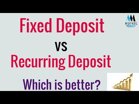 FIXED DEPOSIT VS RECURRING DEPOSIT | WITH DIFFERENT PRACTICAL EXAMPLES
