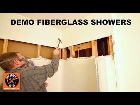 How To Remove One-Piece Fiberglass Showers