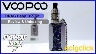 VooPoo Drag Baby Trio Kit | Review & Unboxing | FlatCap Vaper