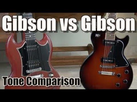 gibson sg vs gibson les paul junior tone comparison p90 pickups vs paf pickups youtube. Black Bedroom Furniture Sets. Home Design Ideas