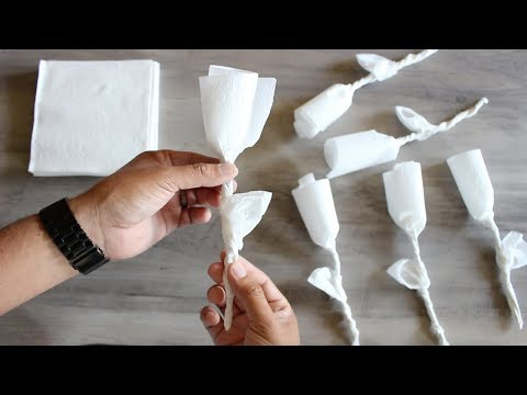How to make a rose using a paper napkin