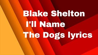 Blake Shelton   I'll Name The Dogs lyrics