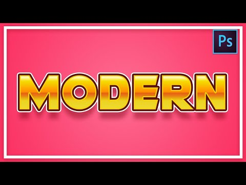 [ Photoshop Tutorial ]  Simple Modern Text Effect in Photoshop thumbnail