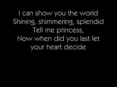 A Whole New World Karaoke/Instrumental