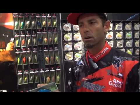 Ike shows off his new custom ink colors at Rapala