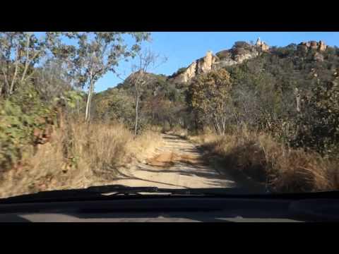 Driving in Matopos National Park, Zimbabwe