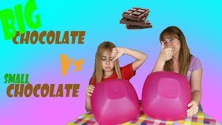 Chocolate GRANDE vs Chocolate PEQUEÑO | BIG CHOCOLATE vs SMALL CHOCOLATE - Silvia Sánchez
