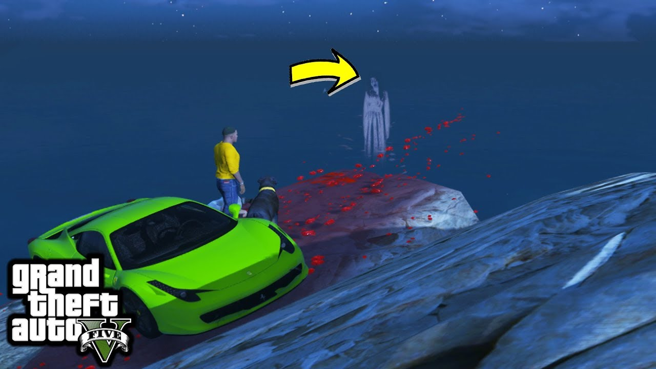 GTA 5 - What Happens if Chop Sees The Mount Gordo GHOST (Scary Easter Egg)
