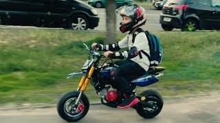 On Two-wheeled Toy  to Granny in real life