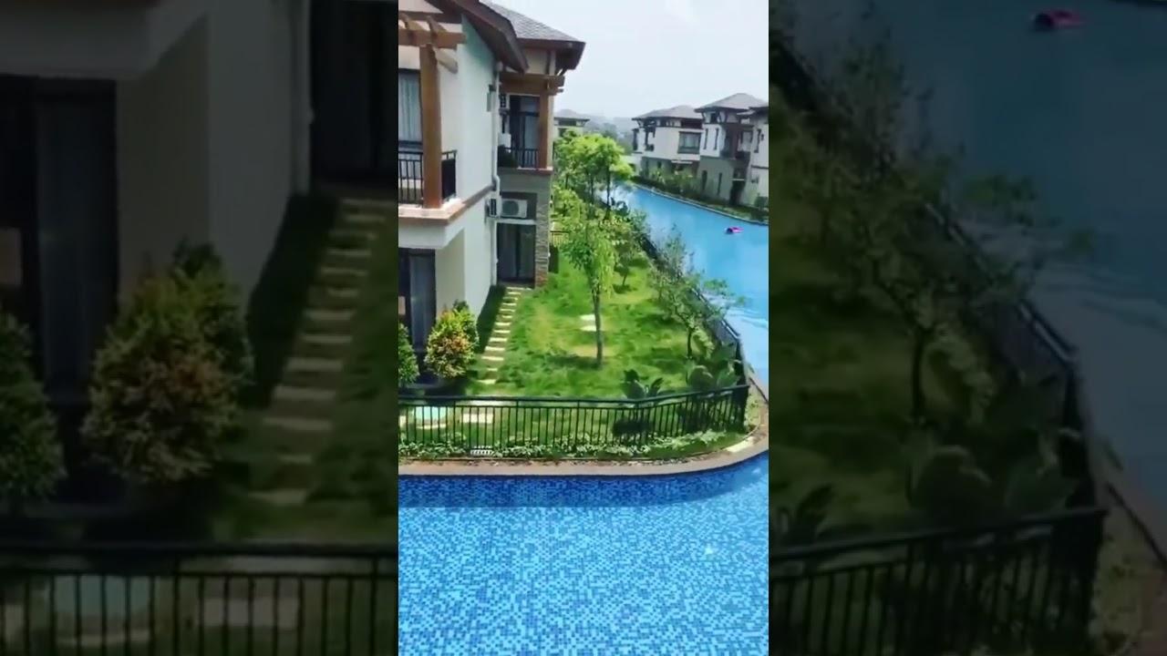 Piscina compartilhada em um condom nio de casas na china - Condominio con piscina milano ...