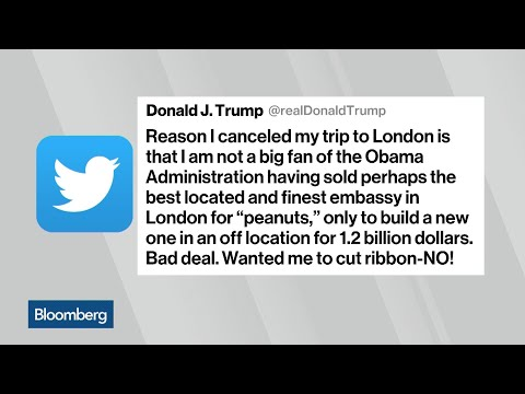 Trump Cancels Trip to Visit New London Embassy