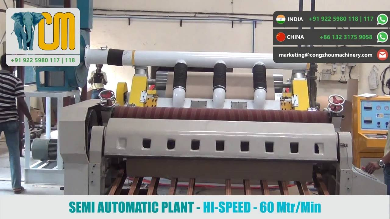 Semi Automatic Box Making Plant (Hi-Speed)