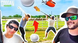 EPIC Golf TRICK SHOT Challenge With PEWPEW!