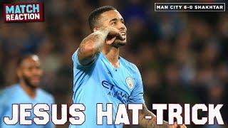 MAN CITY 6-0 SHAKHTAR DONETSK | Goals: Jesus (3), Sterling, Silva, Mahrez