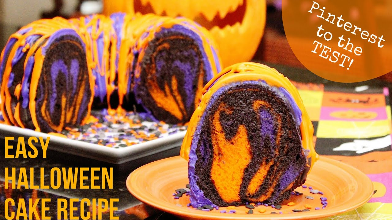 pinterest to the test easy halloween cake recipe orangepurplechocolate youtube