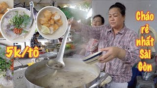 Bất ngờ tô cháo 5 ngàn, rẻ nhất Sài Gòn bán gần 40 năm luôn đông nghịt