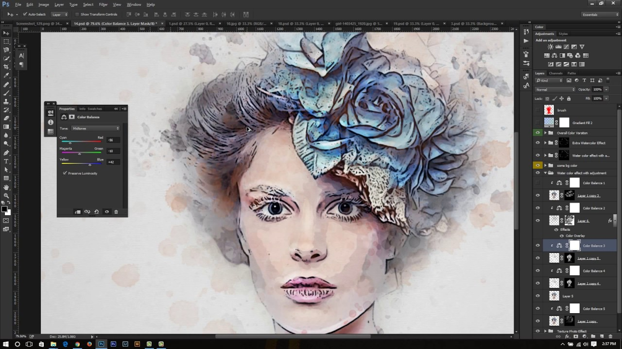how to add action photoshop