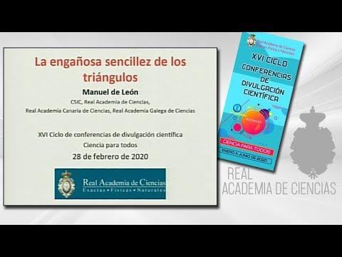 Manuel de León Rodríguez, 27 de febrero de 2020.4ª conferencia delXVI CICLO DE CONFERENCIAS DE DIVULGACIÓN CIENTÍFICA.CIENCA PARA TODOS 2020▶ Suscríbete a nuestro canal de YouTubeRAC: https://www.youtube.com/RealAcademiadeCienciasExactasFísicasNatur