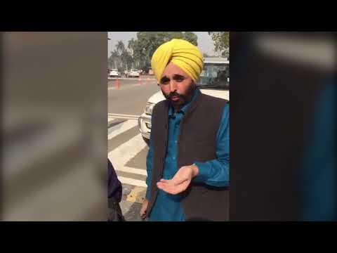 Bhagwant Mann Talking To The Tribune About Sajjan Kumar