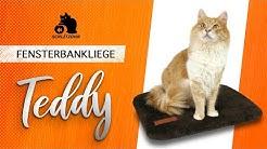 🔥SCHLITZOHR Fensterbankliege Teddy, Fensterbrett Katze, Liegebrett Katze, Katzenbrett