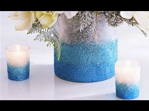 How To Make An Ombre Glittered Vase Youtube