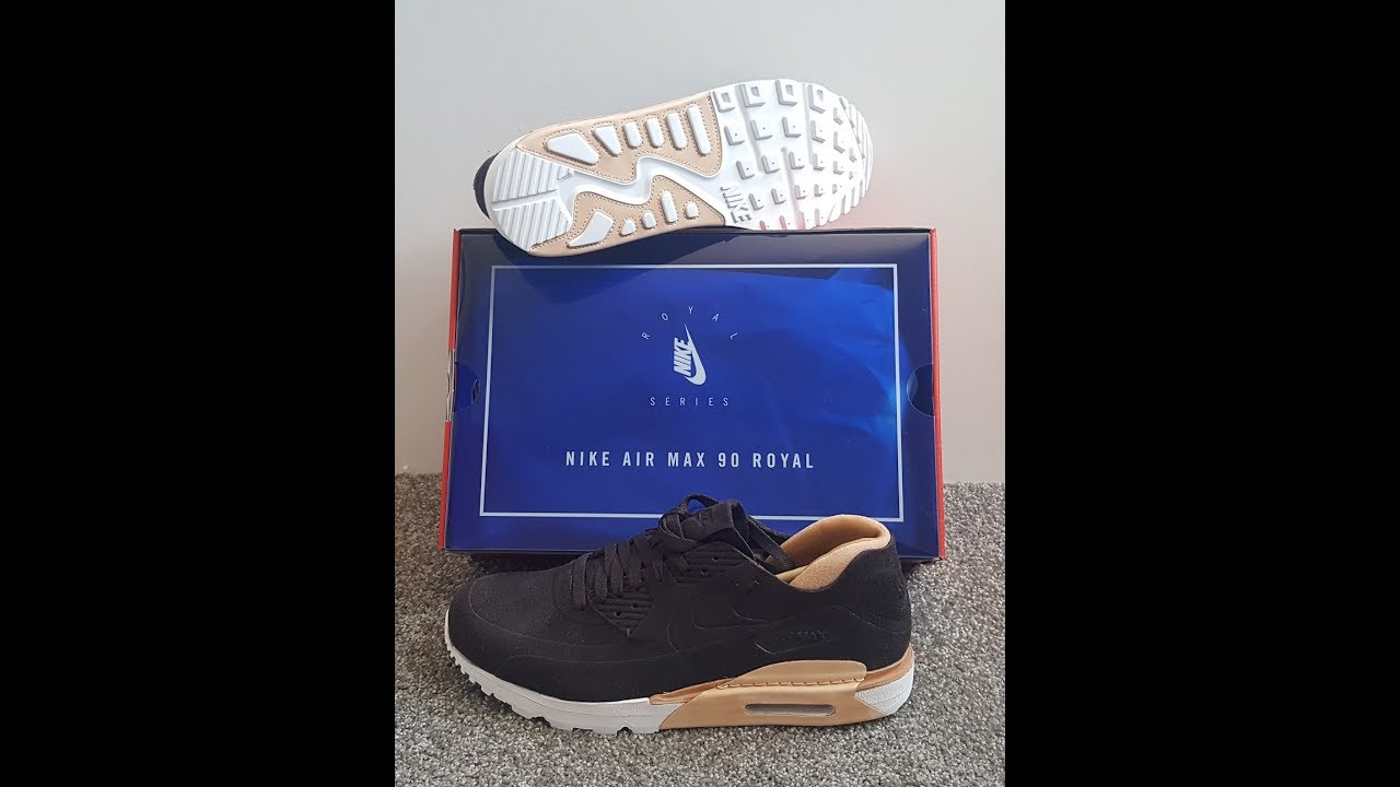 unboxing unpacking Nike Air Max 90 Royal Brown Velvet Brown Velvet code 885891 200