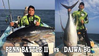 daiwa BG 8000 vs Penn battle II 8000 comparison with field demonstration