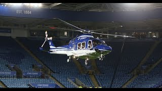 Leicester City owner helicopter crashes: the moment aircraft was out of control.