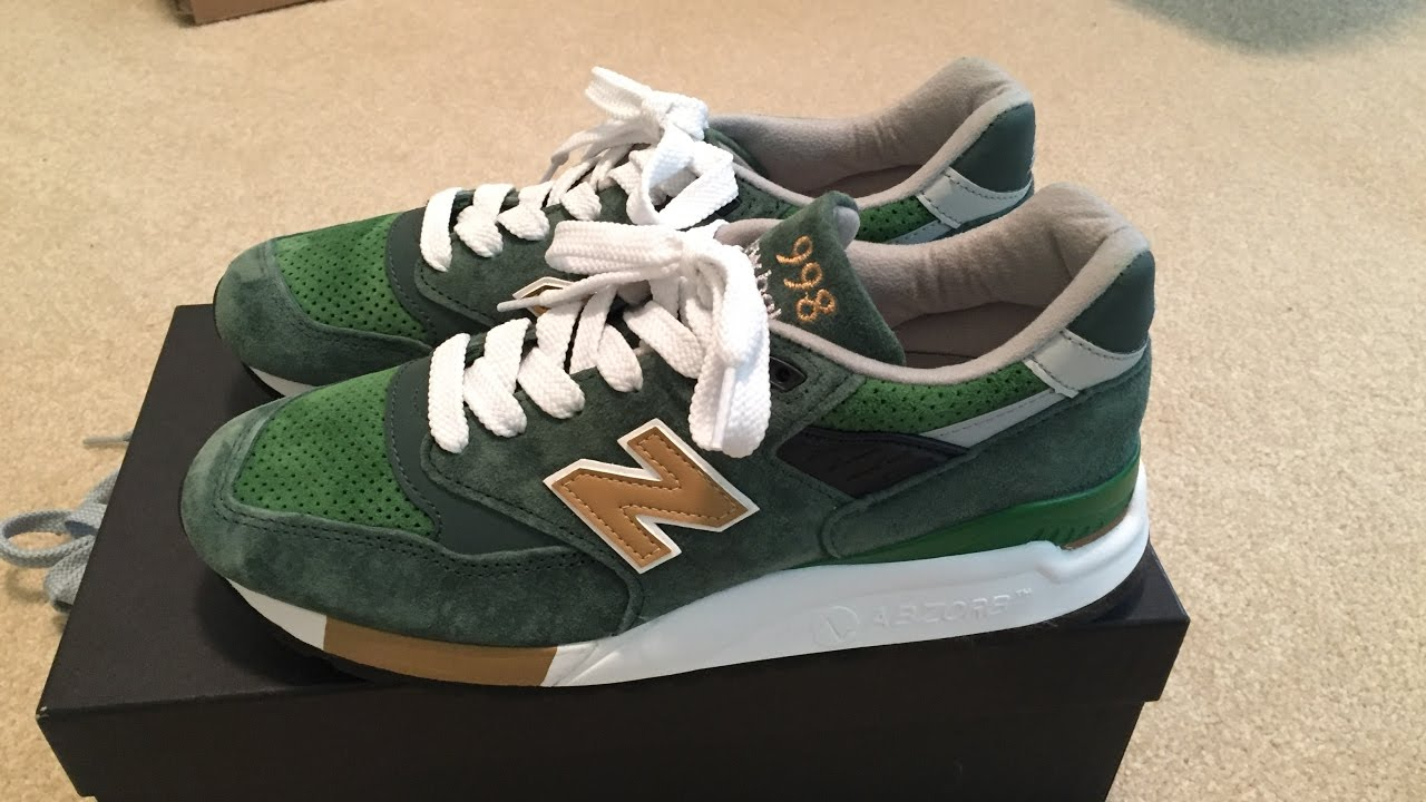 promo code b09e8 5c07c J.Crew x New Balance 998  Greenback  Sneaker Unboxing