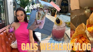 EATING & DRINKING MY WAY ROUND LONDON FOR 10 MINS HEHE   Girls Weekend Vlog   Ames Banks