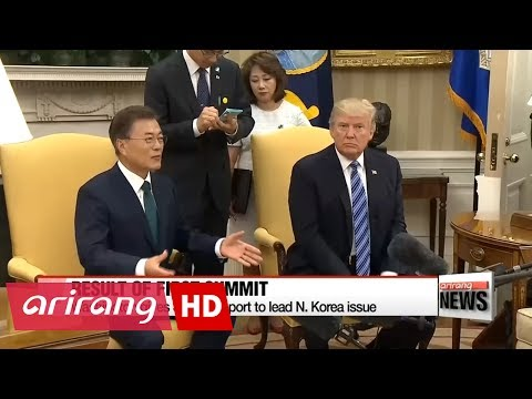Summit wins Washington's backing for Seoul to lead  Korean peninsula peace efforts