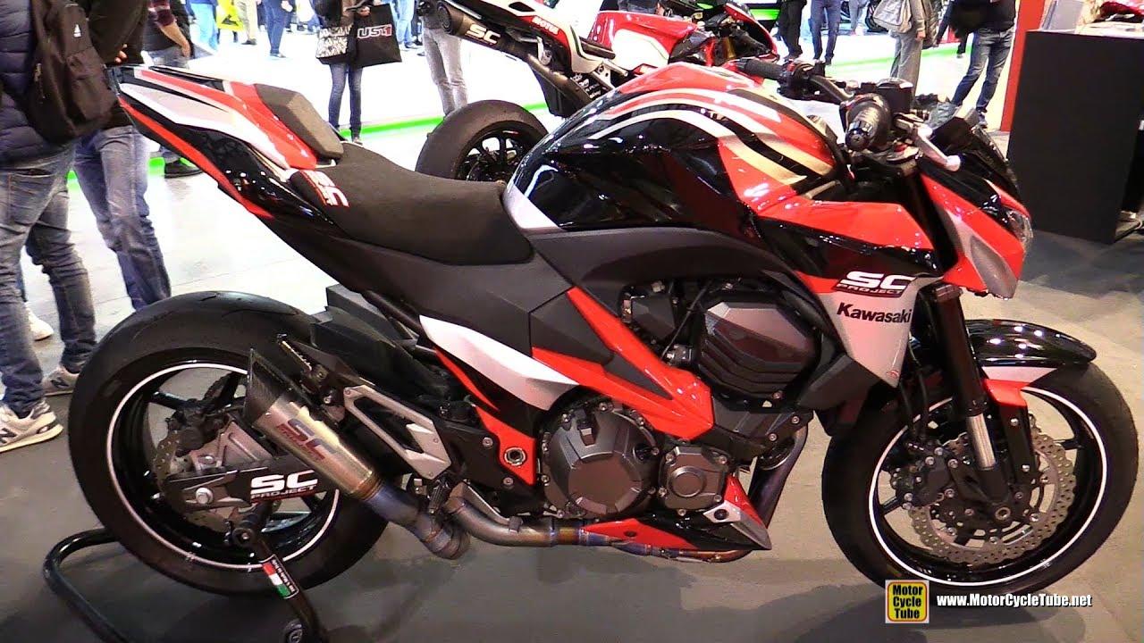 2016 Kawasaki Z800 with SC Project Exhaust - Walkaround - 2016 EICMA Milan