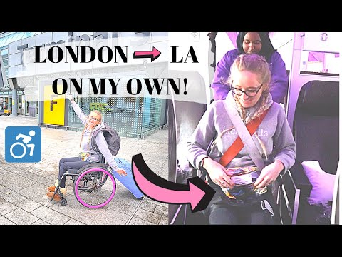 ♿️FLYING SOLO AS A WHEELCHAIR USER LONDON - LA✈️  | 🔴LIVE TOILET FOOTAGE & MUCH MORE....