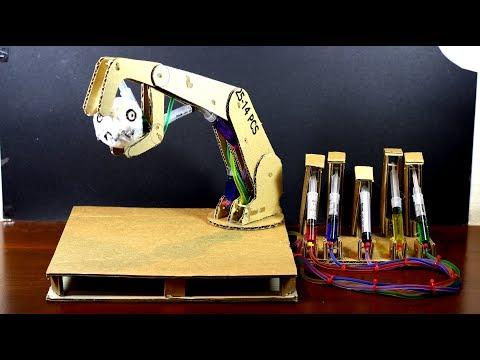 Faire un Bras Robotique Hyrdraulic à l'aide de Carton | Pelle hydraulique