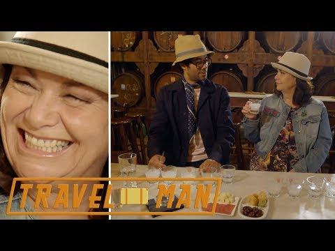 (EXCLUSIVE) Richard Ayoade & Dawn French Get Drunk In Athens | Travel Man 48hrs In...Athens